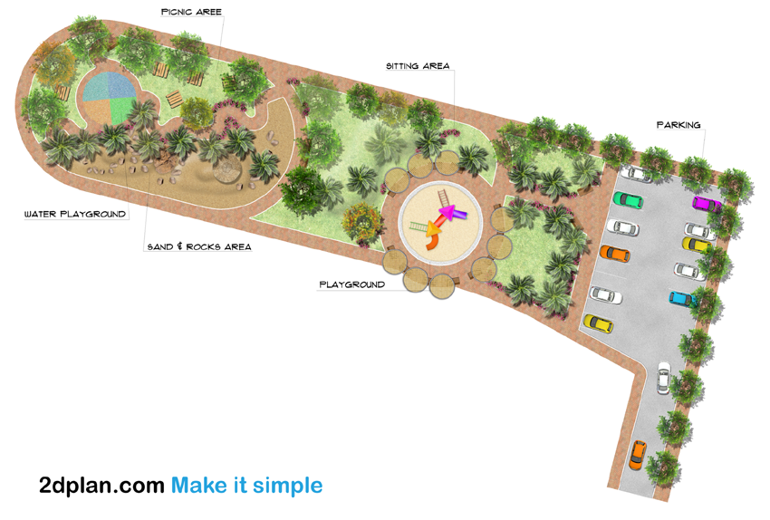 Playground site plan rendering